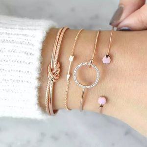 Jewelry - 4 Piece Multilayer Adjustable Bracelet Set